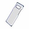 Baseus Glitter Samsung Galaxy Note 8 Tam Kenar Koruma Lacivert Rubber Kılıf - Resim 2