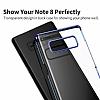 Baseus Glitter Samsung Galaxy Note 8 Tam Kenar Koruma Lacivert Rubber Kılıf - Resim 6