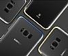 Baseus Glitter Samsung Galaxy S8 Tam Kenar Koruma Siyah Rubber Kılıf - Resim 8