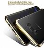 Baseus Glitter Samsung Galaxy S8 Tam Kenar Koruma Lacivert Rubber Kılıf - Resim 3