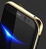 Baseus Glitter Samsung Galaxy S8 Tam Kenar Koruma Lacivert Rubber Kılıf - Resim 6