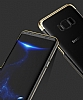 Baseus Glitter Samsung Galaxy S8 Tam Kenar Koruma Siyah Rubber Kılıf - Resim 5