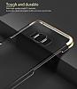 Baseus Glitter Samsung Galaxy S8 Tam Kenar Koruma Lacivert Rubber Kılıf - Resim 4