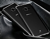 Baseus Glitter Samsung Galaxy S8 Tam Kenar Koruma Siyah Rubber Kılıf - Resim 1