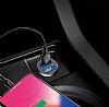 Baseus Grain Çift USB Girişli Beyaz Araç Şarj Aleti - Resim 6