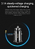 Baseus Grain Çift USB Girişli Beyaz Araç Şarj Aleti - Resim 5