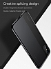 Baseus Half to Half iPhone X Siyah Silikon Kılıf - Resim 1