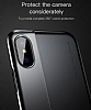Baseus Half to Half iPhone X Siyah Silikon Kılıf - Resim 2