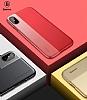 Baseus Half to Half iPhone X Gold Silikon Kılıf - Resim 8