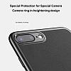 Baseus Happy iPhone 7 / 8 Standlı Deri Görünümlü Kırmızı Silikon Kılıf - Resim 2