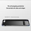Baseus Happy iPhone 7 Plus / 8 Plus Standlı Deri Görünümlü Lacivert Silikon Kılıf - Resim 1