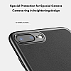 Baseus Happy iPhone 7 Plus / 8 Plus Standlı Deri Görünümlü Lacivert Silikon Kılıf - Resim 2