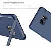 Baseus Hidden Bracket Samsung Galaxy Note FE Siyah Standlı Rubber Kılıf - Resim 1