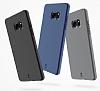 Baseus Hidden Bracket Samsung Galaxy Note FE Siyah Standlı Rubber Kılıf - Resim 2