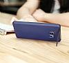 Baseus Hidden Bracket Samsung Galaxy Note FE Siyah Standlı Rubber Kılıf - Resim 4