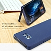 Baseus Hidden Bracket Samsung Galaxy Note FE Siyah Standlı Rubber Kılıf - Resim 3