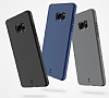 Baseus Hidden Bracket Samsung Galaxy Note FE Gri Standlı Rubber Kılıf - Resim 4