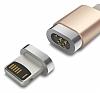 Baseus Insnap Series Lightning Rose Gold Manyetik Data Kablosu 1m - Resim 1