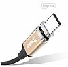 Baseus New Insnap USB Type-C Siyah Manyetik Data Kablosu 1m - Resim 6