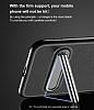 Baseus iPhone X Standlı Deri Görünümlü Beyaz Silikon Kılıf - Resim 6