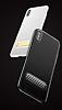 Baseus iPhone X Standlı Deri Görünümlü Beyaz Silikon Kılıf - Resim 7