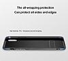 Baseus iPhone X Standlı Deri Görünümlü Beyaz Silikon Kılıf - Resim 2