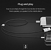 Baseus L34 Ligtning Girişli USB Kırmızı Aux Şarj Kablosu 1.20m - Resim 6