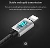 Baseus L34 Ligtning Girişli USB Kırmızı Aux Şarj Kablosu 1.20m - Resim 7