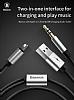 Baseus L34 Ligtning Girişli USB Siyah Aux Şarj Kablosu 1.20m - Resim 2