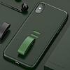 Baseus Little Tail iPhone X Yüzük Tutuculu Yeşil Rubber Kılıf - Resim 1