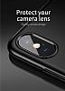 Baseus Little Tail iPhone X Yüzük Tutuculu Siyah Rubber Kılıf - Resim 1
