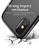 Baseus Little Tail iPhone X Yüzük Tutuculu Siyah Rubber Kılıf - Resim 2