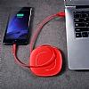 Baseus Makaralı Lightning Kırmızı Data Kablosu 1.20m - Resim 5