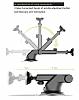 Baseus Mechanical Era Manyetik Vantuzlu Universal Silver Araç Havalandırma Tutucu - Resim 8