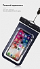 Baseus Multi-Functional Universal Su Geçirmez Cep Telefonu Lacivert Kılıfı - Resim 5