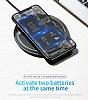 Baseus Multifunction Wireless Kablosuz Siyah Şarj Standı - Resim 9