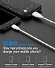 Baseus Plaid 10000 mAh Lightning + Micro USB Powerbank Beyaz Yedek Batarya - Resim 6
