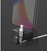 Baseus Quadrate Lightning Masaüstü Dock Silver Şarj Aleti - Resim 5
