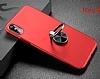 Baseus Ring Bracket iPhone X Selfie Yüzüklü Rubber Kılıf - Resim 1