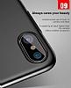 Baseus Ring Bracket iPhone X Selfie Yüzüklü Rubber Kılıf - Resim 7