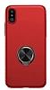 Baseus Ring Bracket iPhone X Selfie Yüzüklü Rubber Kılıf - Resim 12