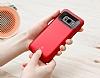 Baseus Samsung Galaxy S8 Plus 5500 mAh Bataryalı Kırmızı Kılıf - Resim 1