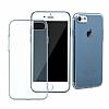 Baseus Simple Series iPhone 7 / 8 Şeffaf Lacivert Silikon Kılıf - Resim 1
