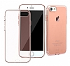 Baseus Simple Series iPhone 7 / 8 Şeffaf Rose Gold Silikon Kılıf - Resim 2