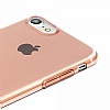 Baseus Simple Series iPhone 7 / 8 Şeffaf Rose Gold Silikon Kılıf - Resim 1