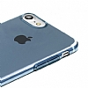 Baseus Simple Series iPhone 7 / 8 Şeffaf Lacivert Silikon Kılıf - Resim 3