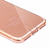 Baseus Simple Series iPhone 7 / 8 Şeffaf Rose Gold Silikon Kılıf - Resim 3