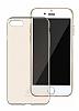 Baseus Simple Series iPhone 7 / 8 Şeffaf Gold Silikon Kılıf - Resim 2