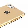 Baseus Simple Series iPhone 7 / 8 Şeffaf Gold Silikon Kılıf - Resim 3