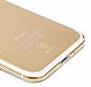 Baseus Simple Series iPhone 7 / 8 Şeffaf Gold Silikon Kılıf - Resim 4